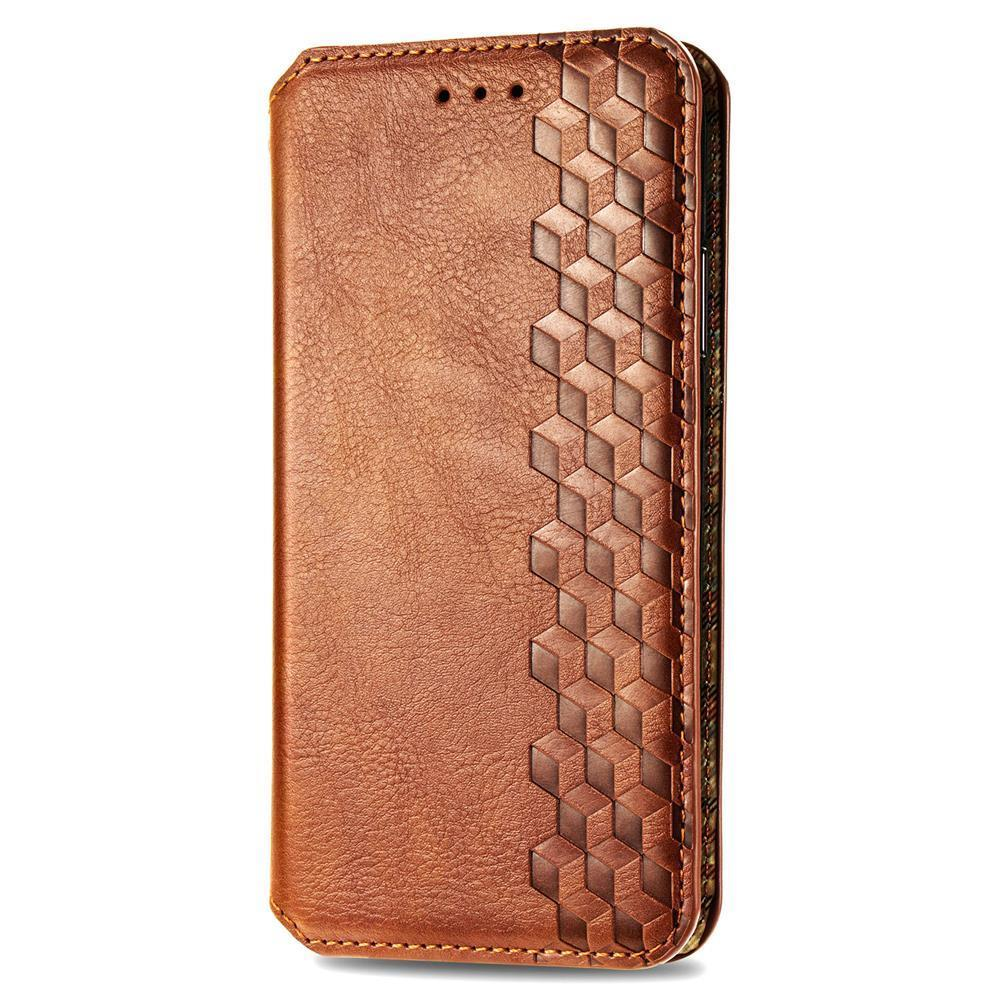 Business Style Slim Fashion Magnetic Automatic Suction Leather Flip Wallet Case Cover